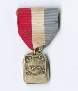 Brass swimming medal