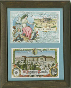 Post cards commemorating Father Jahn