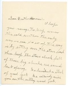 Letter from George S. Nash to Herman B. Nash