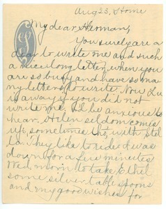 Letter from Mary H. Scott to Herman B. Nash