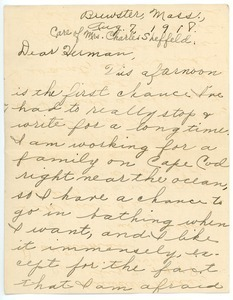 Letter from Esther to Herman B. Nash