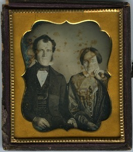 Charles Galphin and Samantha Ball Galphin: double half-length studio portrait of husband and wife