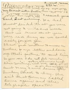 Letter from Helen Nash to Luella M. Nash