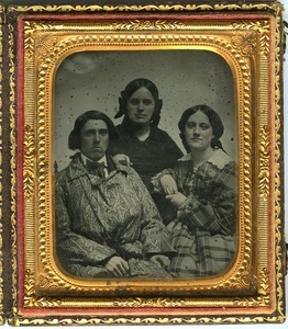 Aaron, Hannah (Cornelia), and Emily Scott: triple studio portrait of siblings