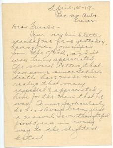 Letter from Clinton T. Brann to unknown recipients