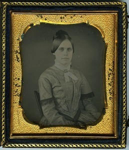 Emily A. Scott Cleveland: half-length studio portrait, seated