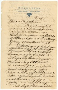 Letter from Clinton T. Brann to Martha Brann