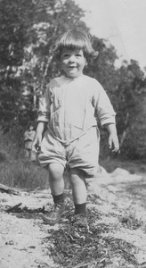 Caleb Foote: portrait as an infant, full-length, standing