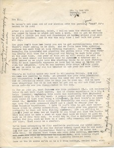 Letter from Howard Scott to Caleb Foote