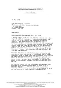 Letter from Mark H. McCormack to Christopher Lewinton