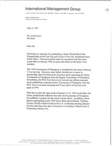 Letter from Mark H. McCormack to Sol Kerzner
