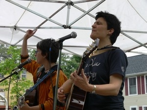 Musicians performing at an anti-Iraq War protest