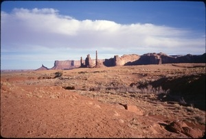Totem Pole, Yei Bi Chei, and other sandstone buttes of Monument Valley