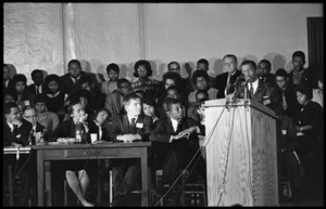 John Lewis speaking at the Youth, Non-Violence, and Social Change conference, Howard University