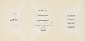 Invitation for New Salem Academy 1943 commencement ceremonies