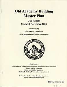 Old Academy Building Master Plan