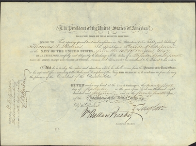 Appointment of Midshipman Thomas C. Harris, 1849 September 28