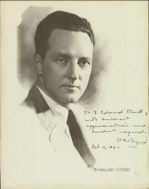 Photograph of Richard E. Byrd, about 1930