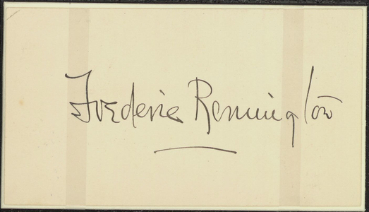 Autograph and sketch of a Native American in profile, 1905