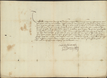 Letter from Henry VIII to Marie, Empress of Austria, 1543 November 24