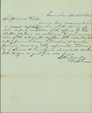 Letter from William Kerr to Armand P. Pfister, 1845 March 13