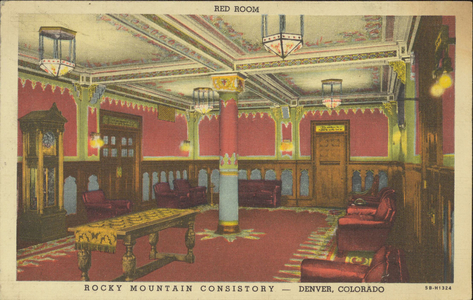 Red Room of Rocky Mountain Consistory, Denver, Colorado
