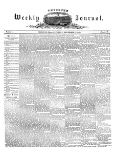 Chicopee Weekly Journal, December 17, 1853
