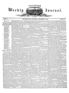 Chicopee Weekly Journal, December 10, 1853