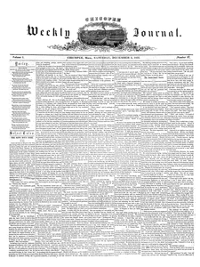 Chicopee Weekly Journal, December 3, 1853