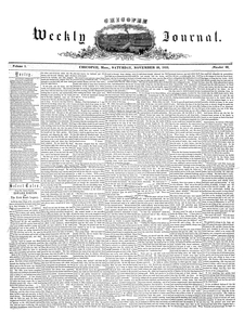 Chicopee Weekly Journal, November 26, 1853