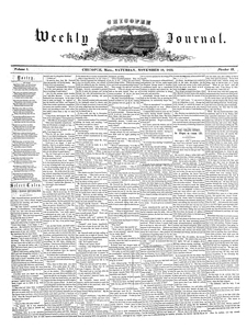 Chicopee Weekly Journal, November 19, 1853