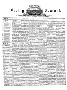 Chicopee Weekly Journal, November 12, 1853