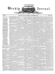 Chicopee Weekly Journal, November 5, 1853