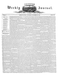 Chicopee Weekly Journal, October 29, 1853