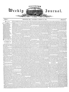 Chicopee Weekly Journal, August 13, 1853