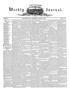 Chicopee Weekly Journal, August 6, 1853