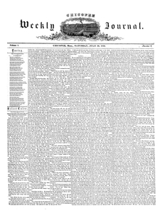 Chicopee Weekly Journal, July 30, 1853