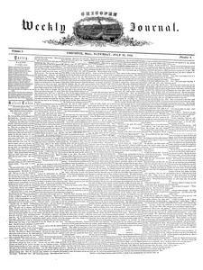 Chicopee Weekly Journal, July 23, 1853