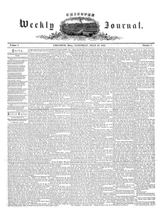 Chicopee Weekly Journal, July 16, 1853