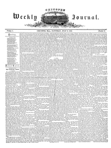 Chicopee Weekly Journal, July 9, 1853