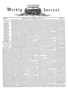 Chicopee Weekly Journal, July 2, 1853
