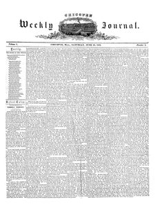 Chicopee Weekly Journal, June 25, 1853