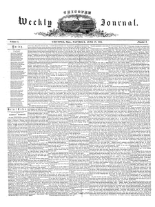 Chicopee Weekly Journal, June 18, 1853