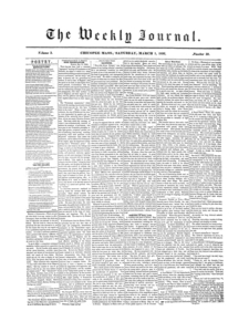 Chicopee Weekly Journal, March 1, 1856