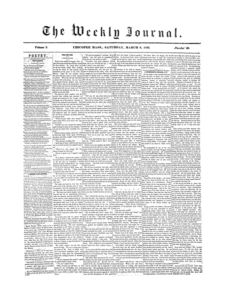 Chicopee Weekly Journal, March 8, 1856