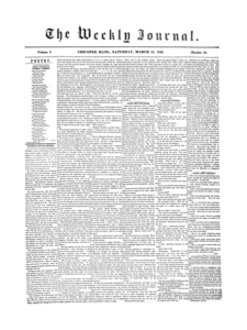 Chicopee Weekly Journal, March 15, 1856