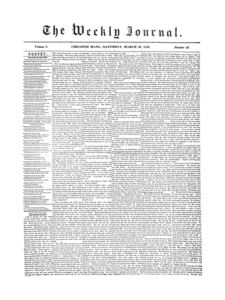 Chicopee Weekly Journal, March 29, 1856
