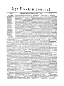 Chicopee Weekly Journal, April 5, 1856