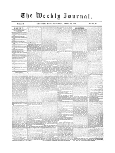 Chicopee Weekly Journal, April 12, 1856