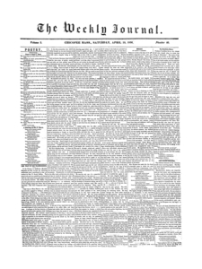 Chicopee Weekly Journal, April 19, 1856